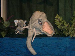 moeder en olifantje